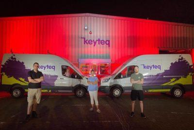 Keyteq staff outside its Cheshire warehouse
